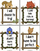 36 Positive Growth Mindset Poster Set - Woodland / Forest Animals (in Color)