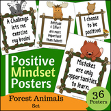36 Positive Growth Mindset Poster Set - Woodland / Forest
