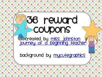 36 Reward Coupons {free/inexpensive}