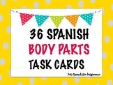 36 SPANISH BODY PARTS/ EL CUERPO TASK CARDS