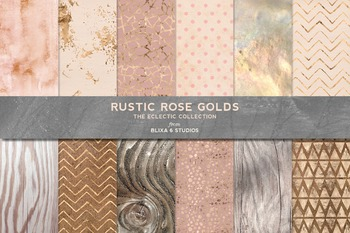 36 Soft Pastel Gold Patterns