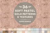 36 Soft Pastel Gold Patterns