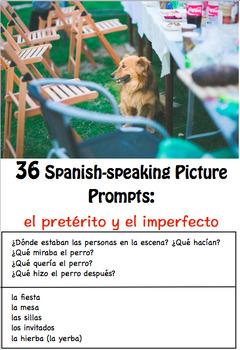 36 Spanish-Speaking Picture Prompts: El pretérito y el imperfecto (36 cards)
