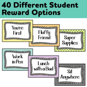 40 Student Reward Coupons *Plus* 4 Editable Cards