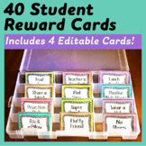 40 Student Reward Coupons *Plus* 4 Editable Cards