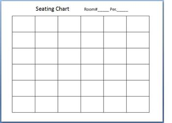 36 Student Seating Chart Rows