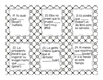 36 Subjunctive Mood Task Cards