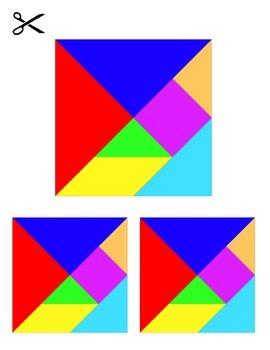 36 Tangram puzzles