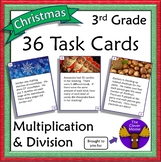36 Task Cards for 3rd Grade Multiplication and Division- C