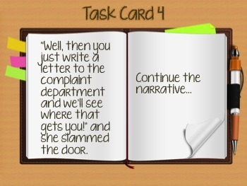 36 UNIQUE Creative Writing Task Cards + PowerPoint Slides - Spark Creativity
