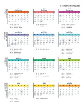 Year at a Glance - 36 Weeks/3 Semester Planning
