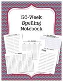 36 Week Spelling Practice Journal