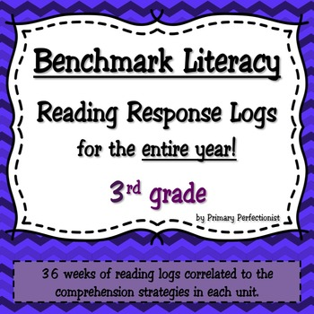 36 Weekly Reading Response Logs for Benchmark Literacy - 3rd grade