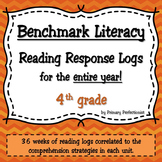 36 Weekly Reading Response Logs for Benchmark Literacy - 4th grade