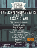 36 Weeks Lesson Plans*Reading*English/L.A.*Pacing Calendar