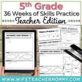 36 Weeks of Skills Practice for 5th Grade Teacher Edition GROWING BUNDLE