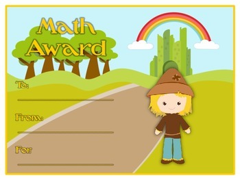 36 Wizard of Oz Award Certificates - Colorful & Fun Rewards - 6 Types 6 Styles