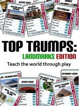 36 X TOP TRUMP WORLD LANDMARK CARDS