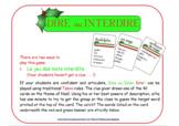 DIRE OU INTERDIRE: 42 cartes au thème de Noël pour un jeu comme Taboo®