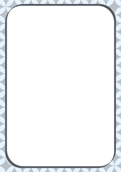 36 pages of mixed borders / frames - Various colours