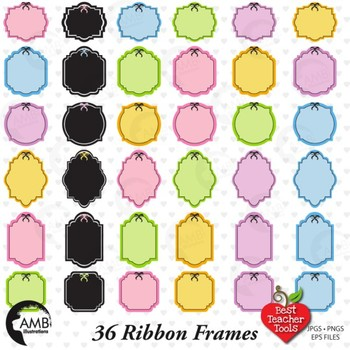 Frames Clipart, Labels Clipart, Tags clipart, {Best Teacher Tools} AMB-480