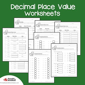 Place Value and Rounding Decimal Place Value Test