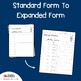 Standard Form To Expanded Form Place Value Worksheets