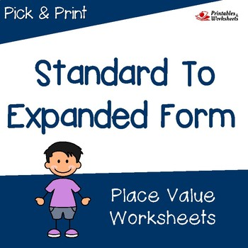 Expanded Notation Math Worksheets, Place Value Worksheets 4th Grade, 3rd Grade