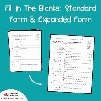 Standard and Expanded Form Worksheets, Expanded Notation Worksheets