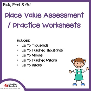 Place Value Assessments, Practice Worksheets