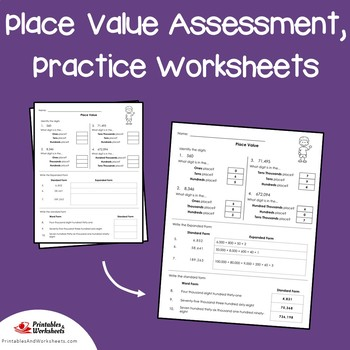 3rd Grade Place Value Assessment 4th Grade Place Value Pretest & Up