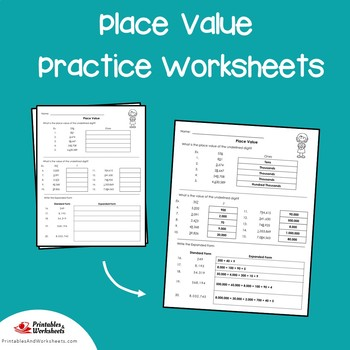 Place Value Daily Practice Worksheets