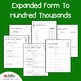 Place Value Expanded Form To Hundred Thousands