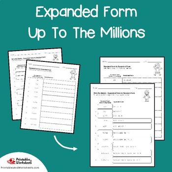Place Value Expanded Form To The Millions