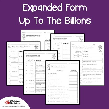 Place Value Expanded Form To The Billions