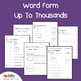 Place Value Word Form Up To Thousands