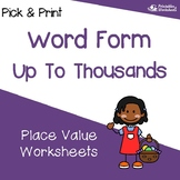 Number Names and Place Value to Thousands, Number Names Practice Worksheets
