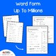 Place Value Word Form To The Millions