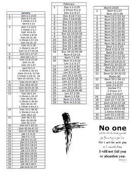 365 Day Chronological Bible Study Book Marks