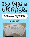 365 Days of Wonder November Writing Prompts/Bell Ringers