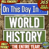 World History Daily Warmups and Bell Ringers   365 Days in World History!