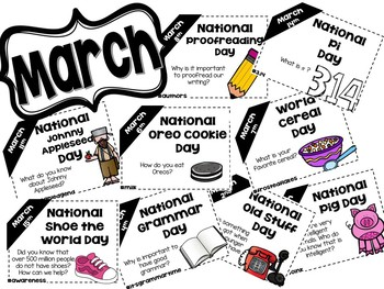 Daily Discussion Slides - March National Days