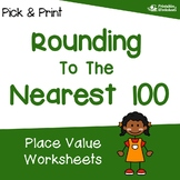 Rounding to Nearest 100 with Number Lines, Rounding Place Value Review