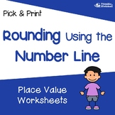 Rounding to the Nearest 10 and 100 Assessment, Rounding on a Numberline