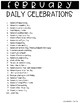 366 Daily Celebrations FREEBIE (For Morning Meetings and Calendar Routines)