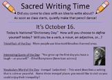 366 Sacred Writing Time Slides -- For Writer's Notebooks &