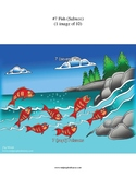 #7 Fish, Numbers, Animals, First Nations, Indigenous, Aboriginal
