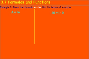 3.7 Formulas and Functions