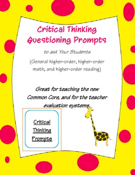 Critical thinking resources for teachers