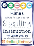 37 Most Common Rimes Poster Set for Spelling & Phonics Instruction